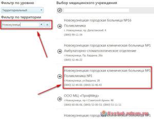 Запись к врачу Новокузнецк - инструкция шаг1