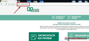Запись к врачу Рубцовск - инструкция шаг1