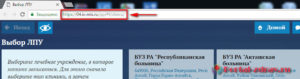 Запись к врачу Горно-Алтайск - инструкция шаг1