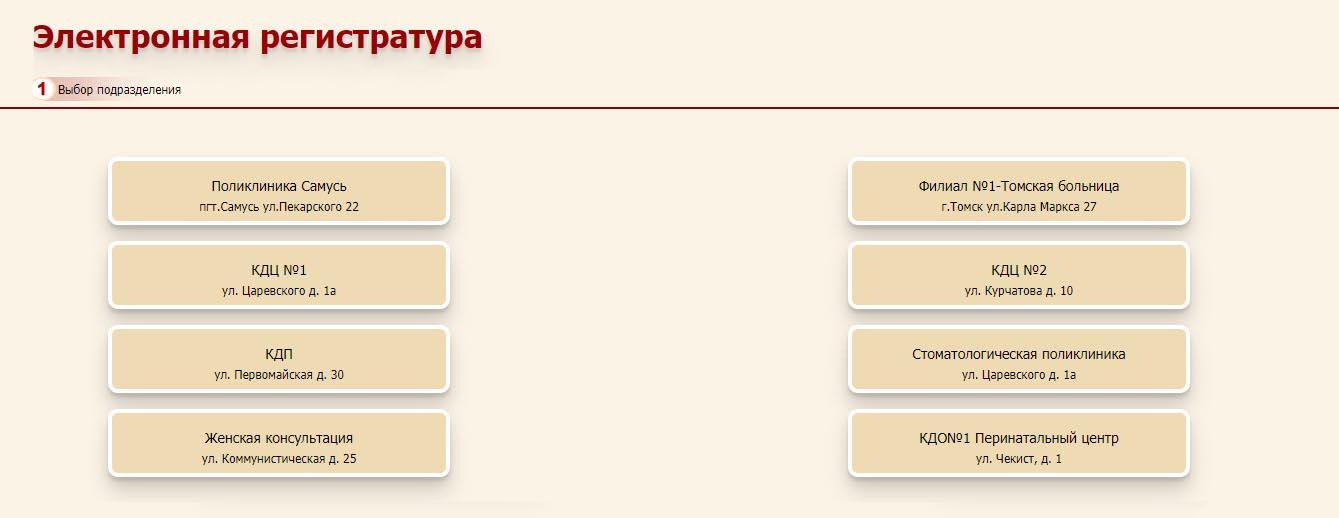 Электронная регистратура Северска